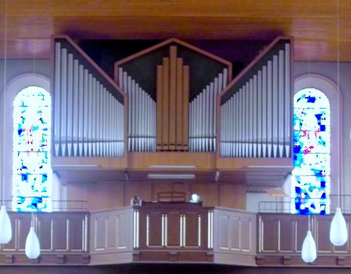 Orgel in der Kirche Maria Hilf in Brebach